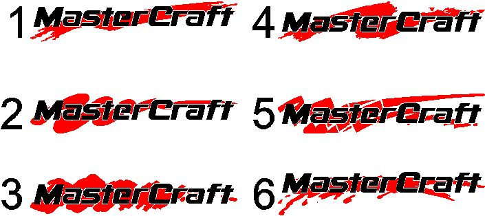 "MasterCraft Hull Decals 4/""x40.5/"""